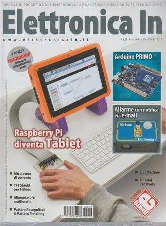 "Elettronica In - mensile n. 216 Giugno 2017 ""Raspberry Pi diventa Tablet"""