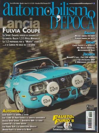 AUTOMOBILISMO D'EPOCA. N. 12/01  DICEMBRE 2016 MENSILE
