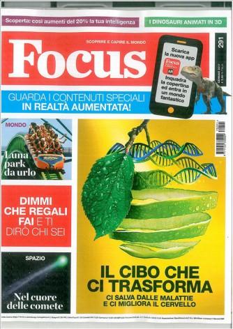 """Focus - Rivista mensile n. 291 Gennaio 2017 """"il cibo che ci trasforma"""""""