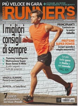 RUNNER'S WORLD. SETTEMBRE 2016. N. 9. MENSILE.