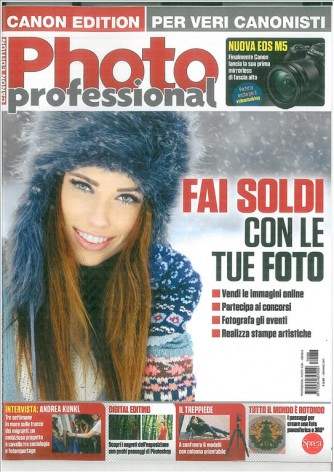 Photo Professional mensile n. 86 Gennaio 2017 - Canon edtition