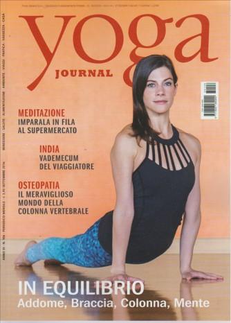 YOGA JOURNAL. N. 106. SETTEMBRE 2016. MENSILE.