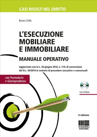 L'esecuzione mobiliare e immobiliare.Manuale operativo.c/CD-ROM di Bruno Cirillo