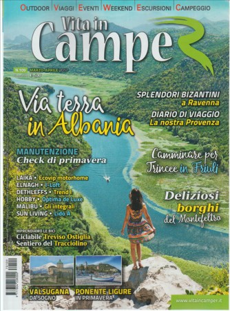 Vita In Camper - bimestrale n. 109 Marzo 2017