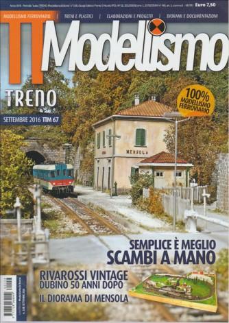 """MODELLISMO.  MENSILE """"TUTTO TRENO MODELLISMO & STORIA"""" N. 158. SETTEMBRE 2016."""