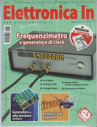 Elettronica In-mensile n. 215 Maggio 2017 catalogo gen.2017 FUTURA ELETTRONICA