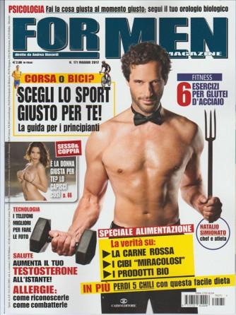 "For Men Magazine - mensile n. 171 Maggio 2017 ""Natalio Simionato"""