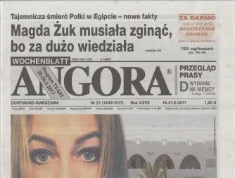 Angora - settimanale (in linua polacca) n. 21 - 15 Maggio 2017