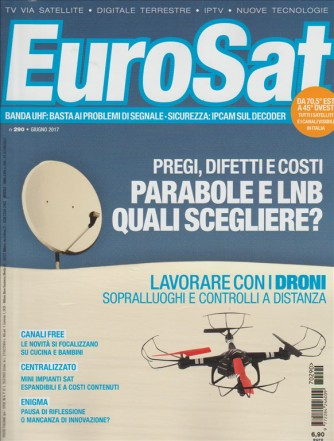 """EUROSAT - mensile n. 290 - Giugno 2017 """"Parabole e LNB"""""""