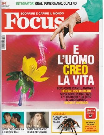"Focus - mensile n. 297 - luglio 2017 "" e l'uomo creò la vita"""