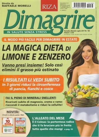 Dimagrire RIZA - mensile n. 183 Luglio 2017 - diretto da Raffaele MOrelli
