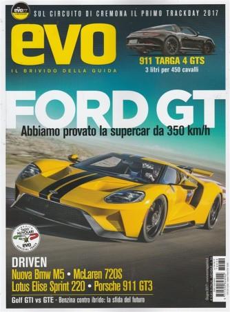 EVO(Il Brivido della guida)-mensile n.30 Giugno 2017 Ford GT:Supercar da 350km/h