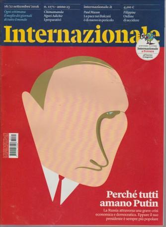 INTERNAZIONALE. N. 1171. 16/22 SETTEMBRE 2016.