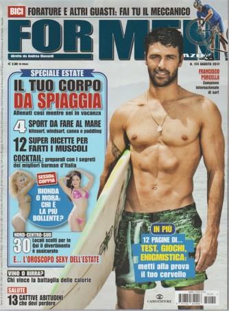 For Men Magazine - mensile n.174 Agosto 2017-Francisco Porcella campione di Surf