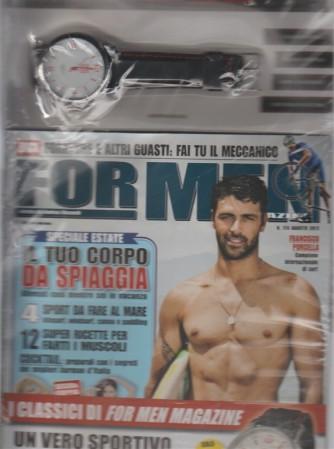 For Men Magazine - mensile n.174 Agosto 2017 + L'orologio Sport watch