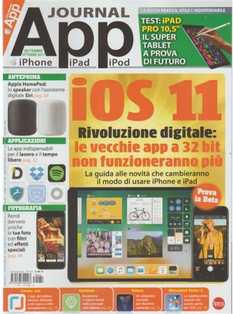 App Journal - bimestrale n. 72 Settembre 2017 - iPhone, iPad, iPod