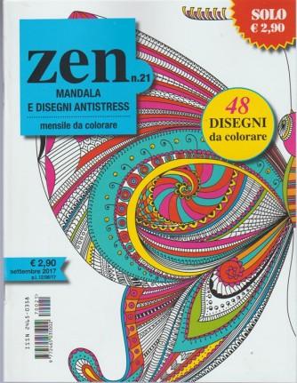 Zen Mandala e Disegni Antistress - mensile da colorare n. 21 Settembre 2017