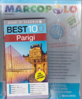 Marco Polo  presenta Diari di viaggio - Best 100 Parigi - ottobre 2018 - Guida pocket con mappa estraibile