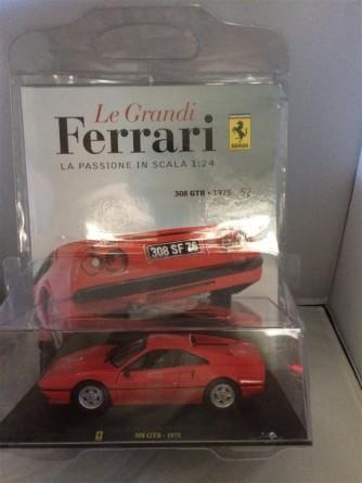 Le grandi Ferrari n. 52 - 308 GTB (1975)  - Scala 1:24