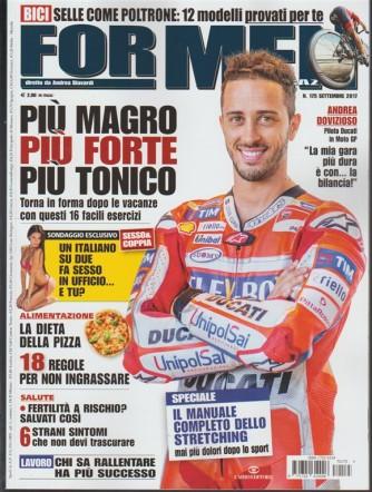 For Men Magazine - mensile n.175 Settembre 2017 Più magro, più tonico, più forte