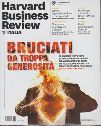 Harward Business Review Italia-mensile n.9 Settembre2017-Bruciati da troppa generosità