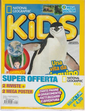 """Offerta Kids - 2 riviste del mensile """"KIDS by National Geographic"""""""