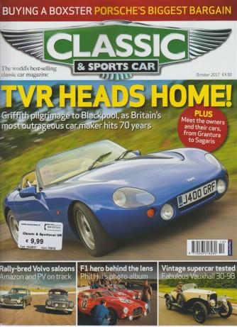 Classic & Sports Car - mensile in lingua inglese n. 10 Ottobre 2017