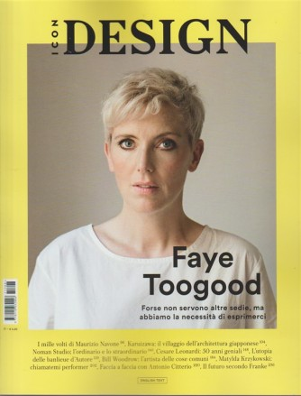 Icon Design by Panorama - mensile n. 18 Ottobre 2017 Faye Toogood - English TEXT