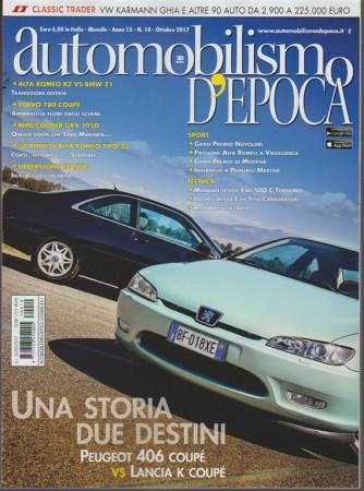 Automobilismo Epoca-mensile n.10 Ottobre2017-Peugeot 406 Coupé vs Lancia K Coupé