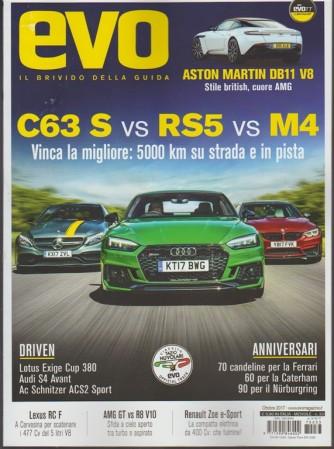 """Evo """"Il Brivido della Guida"""" - mensile n. 33 Ottobre 2017 - Aston Martin DB11 V8"""