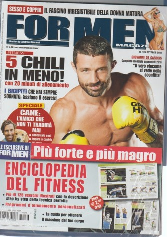 For Men Magazine - mensile n. 176 Ottobre 2017 + enciclopedia del Fitness vol. 2