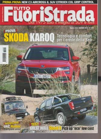 Tuttofuoristrada - mensile n.9 Novembre 2017 prova: Skoda Karoq