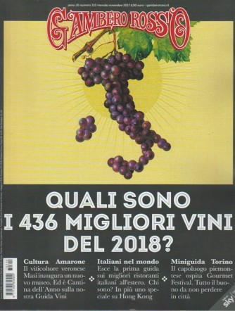 Il Gambero Rosso - mensile n. 310 Novembre 2017 Miniguida Torino
