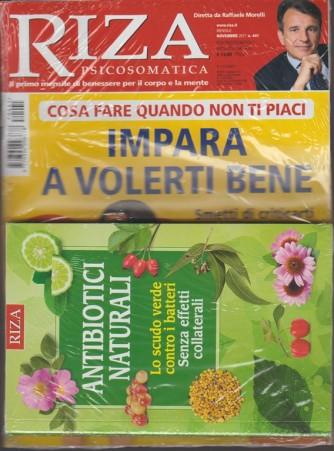 Riza Psicosomatica - mensile n. 441 Novembre 2017 + libro: Antibiotici Naturali