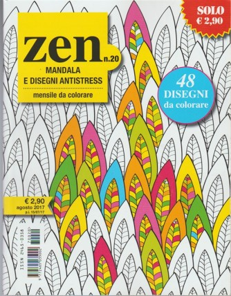 Zen Mandala e disegni Antistress - mensile da colorare n. 20 Agosto 2017