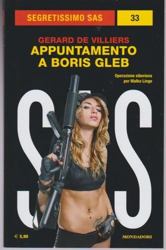 Appuntamento a Boris Gleb di Gerard De Villiers- Collana Segretissimo SAS vol.33