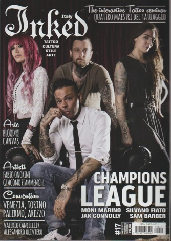 Inked Italy - bimestrale n. 17 Novembre 2017 - Tattoo, cultura, stile, arte