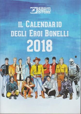 Il Calendario degli eroi Bonelli 2018 - cm.29,5 x 42