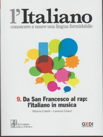 L'italiano-Conoscere... vol.9 - Da San Francesco al rap: l'italiano in musica
