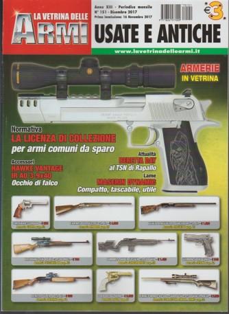 """La Vetrina delle Armi """"Usate e Antiche"""" - mensile n. 151 Dicembre 2017"""