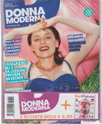 Donna Moderna settimanale n. 25 - 5 Luglio 2017 + Giallo Zafferano n. 4