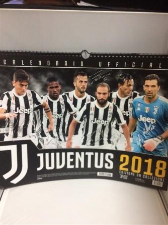 Calendario Orizzontale Juventus 2018 - cm. 44 x 33 con spirale