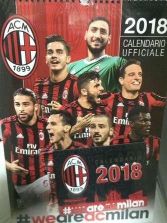 Doppio Calendario 2018 MILAN - verticale cm.x con spirale + da tavolo cm.17,5x14