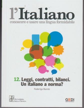 L'italiano-Conoscere... vol.12 - Leggi, contratti, bilanci. Un italiano a norma