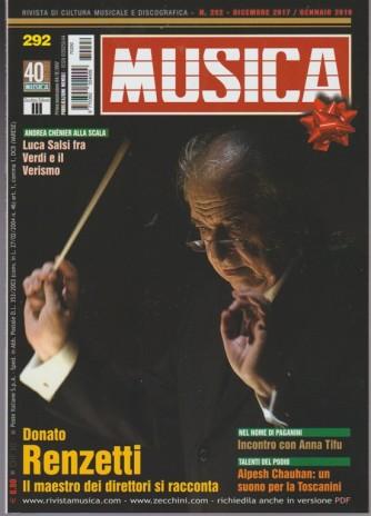 Musica - mensile n.292 Dicembre 2017 - Donato Renzetti: il maestro dei Direttori