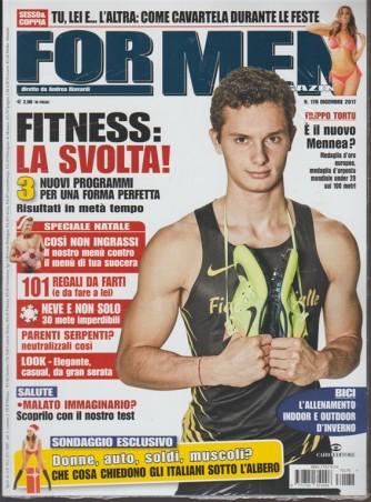 For Men Magazine - mensile n. 178 Dicembre 2017 - Filitto Tortu il nuovo Mennea
