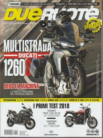 Dueruote - mensile n. 153 Gennaio 2017 Multistrada DUCATI 1260S