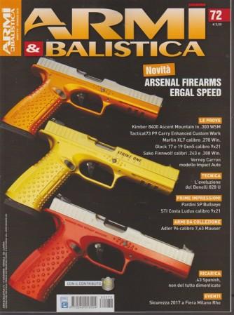 Armi & Balistica - mensile n. 72 Dicembre 2017 Arsenal Firearms Ergal Speed