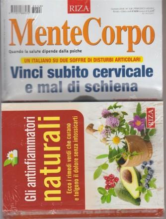 RIZA Mentecorpo - mensile n.128 Gennaio 2018+ libro Gli Antinfiammatori naturali