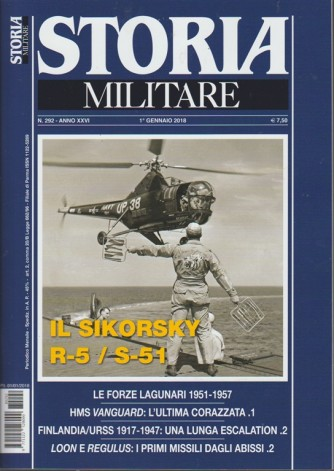 Storia Militare - mensile n. 292 Gennaio 2018 - il Sikorsky R-5 / S-51